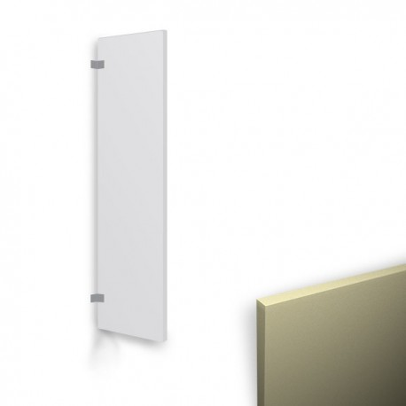 """Solid Plastic Privacy Screen 18"""" WH"""